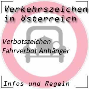 Verkehrszeichen Fahrverbot Anhänger