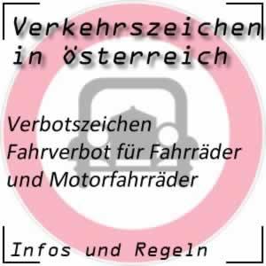 Verkehrszeichen Fahrverbot Fahrrad-Mofa
