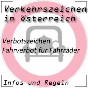 Verkehrszeichen Fahrverbot Fahrrad