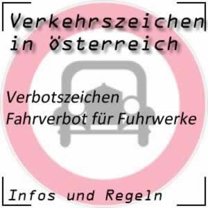 Verkehrszeichen Fahrverbot Fuhrwerke