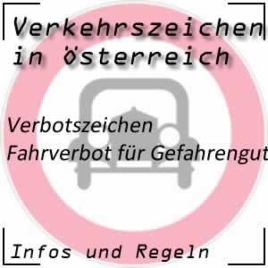 Verkehrszeichen Fahrverbot Gefahrengut