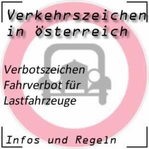Verkehrszeichen Fahrverbot LKW