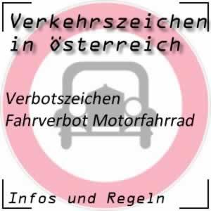 Verkehrszeichen Fahrverbot Motorfahrrad