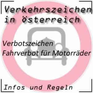 Verkehrszeichen Fahrverbot Motorrad