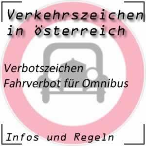 Verkehrszeichen Fahrverbot Omnibus