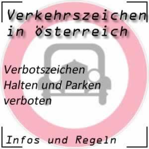 Verkehrszeichen Halten und Parken verboten