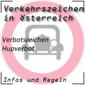 Verkehrszeichen Hupverbot
