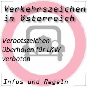 Verkehrszeichen Überholen LKW verboten