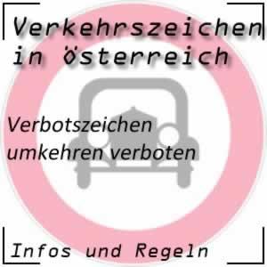 Verkehrszeichen Umkehren verboten
