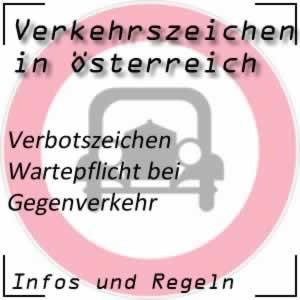 Verkehrszeichen Wartepflicht Gegenverkehr
