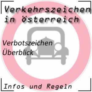 Verkehrszeichen Verbotszeichen Österreich