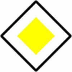 Verkehrszeichen Vorrangzeichen Vorrangstraße