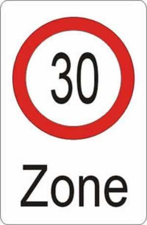Verkehrszeichen Verbotszeichen Zonenbeschränkung