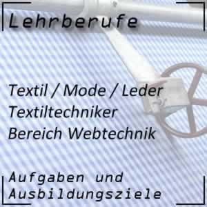 Ausbildung Textiltechniker Webtechnik