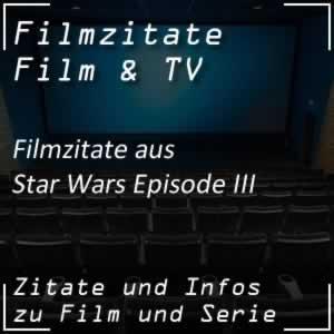 Filmzitate aus Star Wars III - Die Rache der Sith