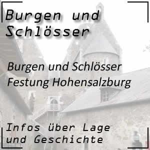 Festung Hohensalzburg über der Stadt Salzburg