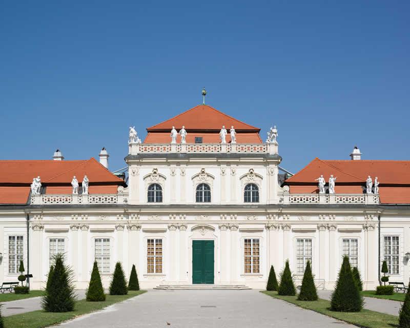 Schloss Belvedere mit Ansicht des Unteren Belvedere