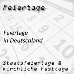 Feiertage Deutschland