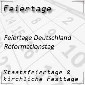 Feiertag Reformationstag Deutschland