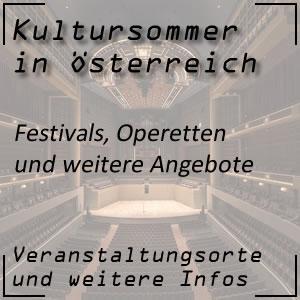 Kultursommer mit Sommerspiele und Festivals