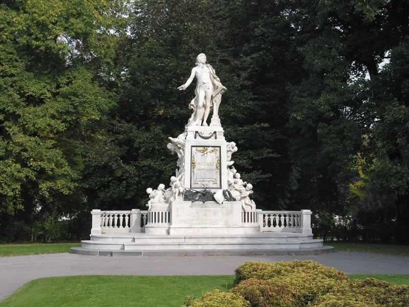 Burggarten mit Mozartdenkmal in Wien