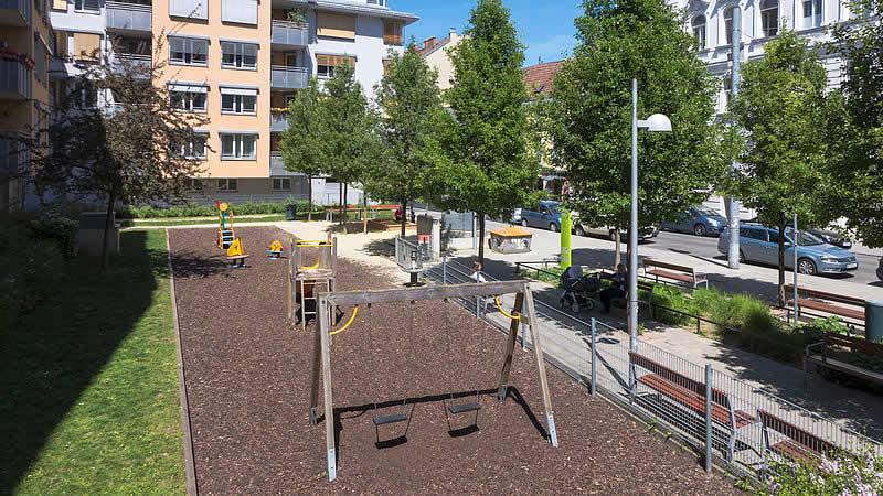 Dorothea-Neff-Park in Wien Neubau