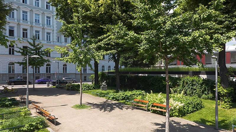 Erwin-Ringel-Park bei der Roßauer Kaserne in Wien