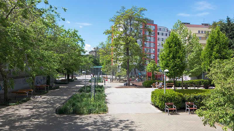 Fritz-Imhoff-Park bei der Wallgasse in Wien
