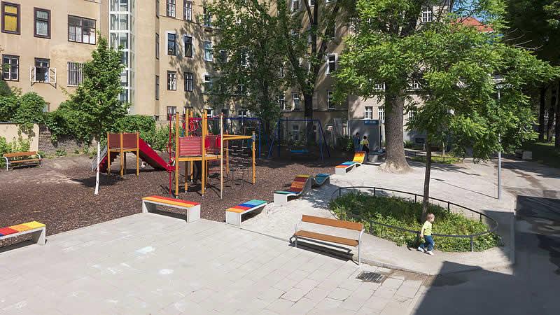 Helene-Deutsch-Park beim Gürtel Wien 9