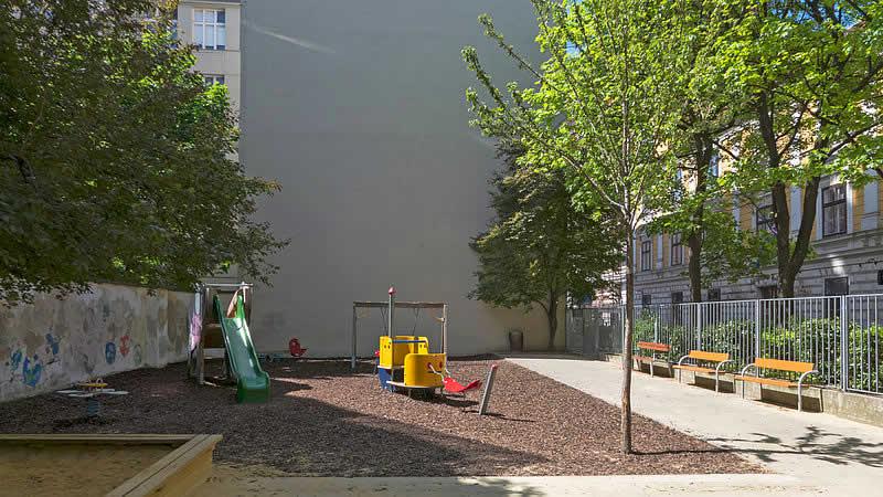 Helene-Heppe-Park in Wien-Mariahilf