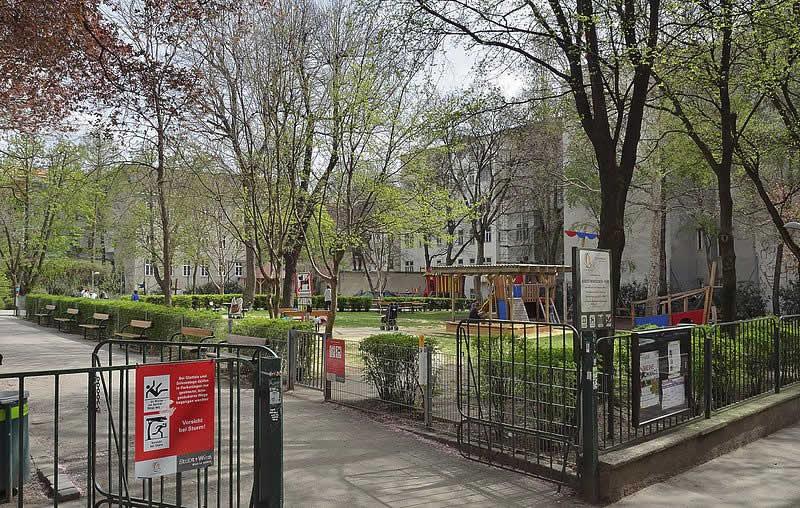 Hubert-Marischka-Park bei der Stumpergasse in Wien