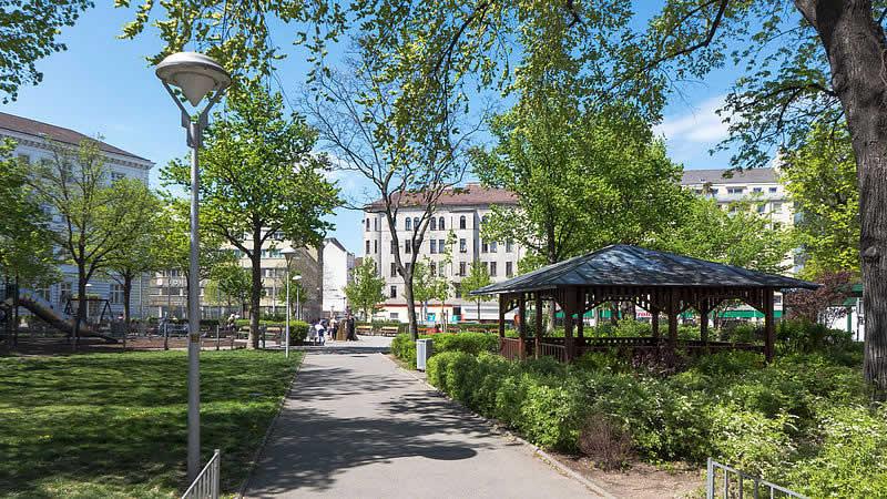 Hundsturmpark bei der rechten Wienzeile Wien 5