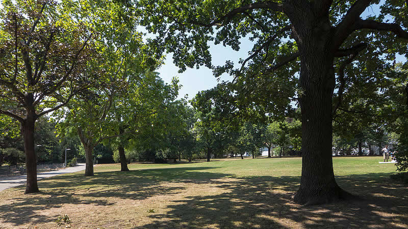 Lidlpark beim Hernalser Friedhof in Wien 17