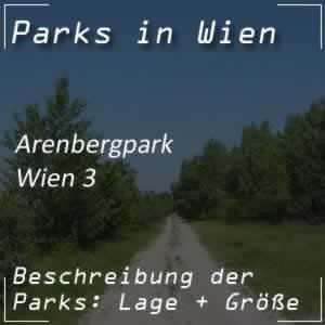 Arenbergpark in Wien bei der Landstraßer Hauptstraße
