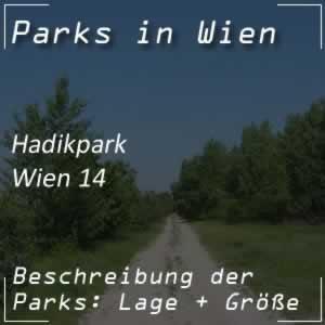 Hadikpark entlang des Wienflusses Wien 14