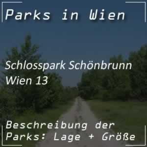 Schlosspark Schönbrunn in Wien 13