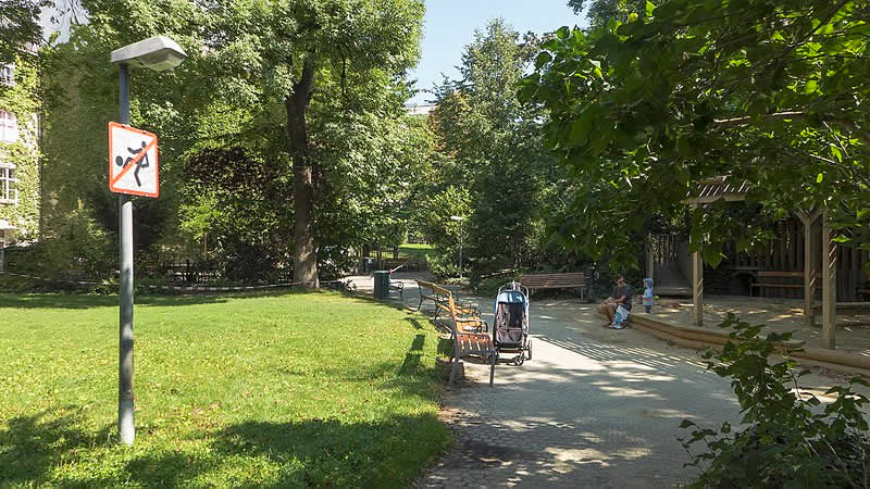 Plan Quadrat: Park im Hof in Wien