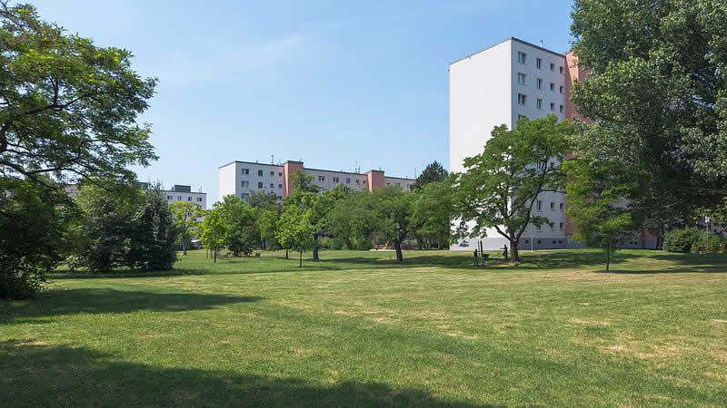 Seeschlachtpark bei der Kaiser Ebersdorfer Straße