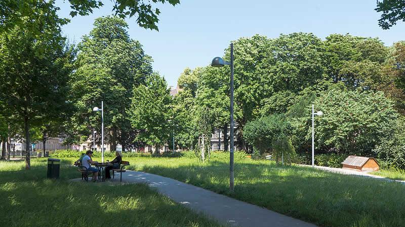 Theresienbadpark in Wien-Meidling