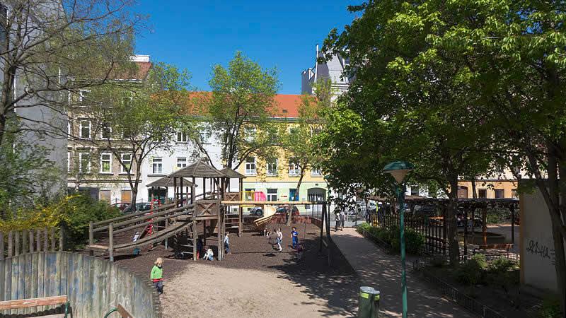Willi-Frank-Park bei der Rechten Wienzeile Wien 5