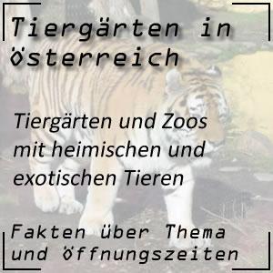Tiergärten und Zoos in Österreich