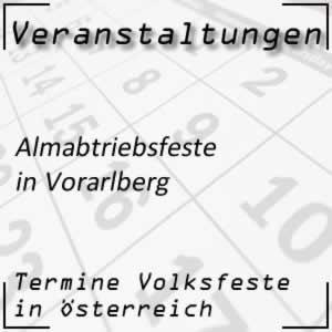 Termine Almabtriebsfeste in Vorarlberg