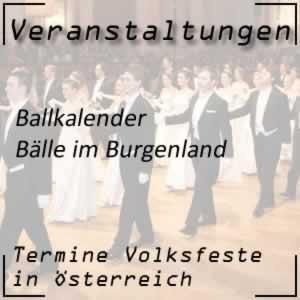 Ballkalender Burgenland