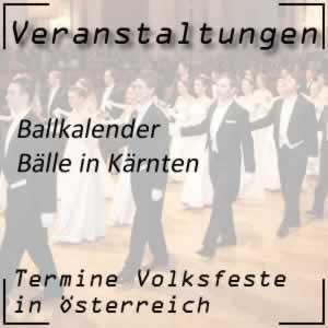 Ballkalender Kärnten