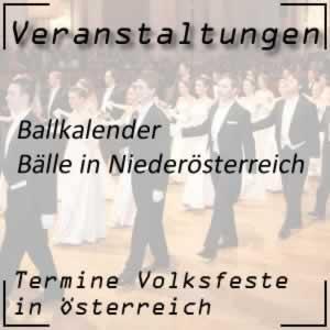 Ballkalender Niederösterreich
