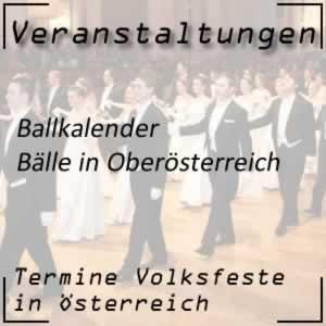 Ballkalender Oberösterreich
