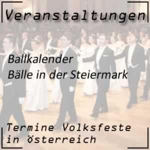 Ballkalender Steiermark