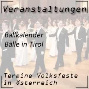 Ballkalender Tirol