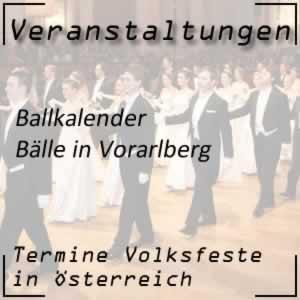 Ballkalender Vorarlberg