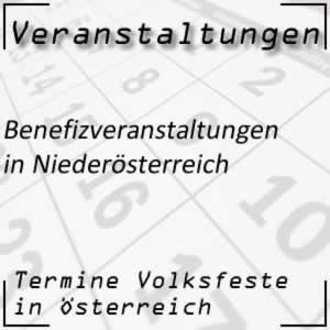 Benefizveranstaltungen in Niederösterreich
